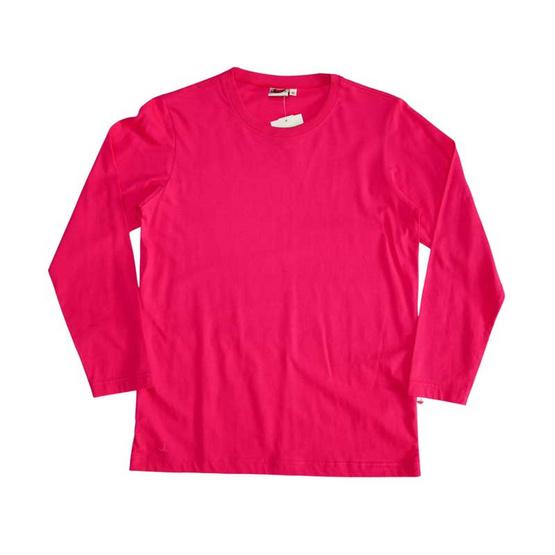 แตงโม เสื้อยืดคอกลมแขนยาว SS สี SS22 บานเย็น