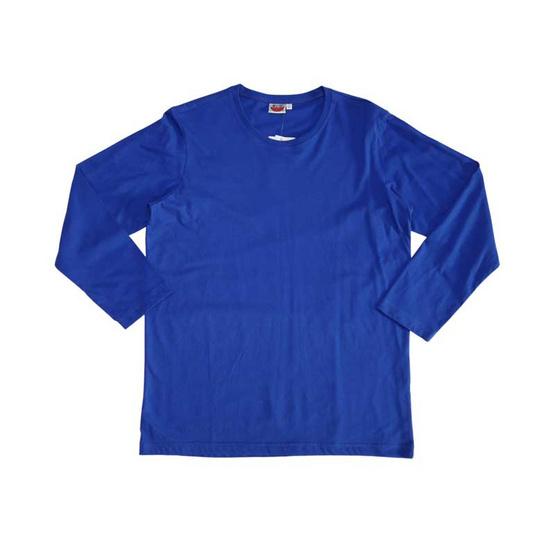แตงโม เสื้อยืดคอกลมแขนยาว SS สี SS62 น้ำเงิน