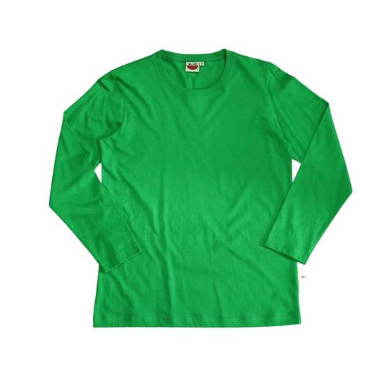 แตงโม เสื้อยืดคอกลมแขนยาว SS สี SS30 เขียว