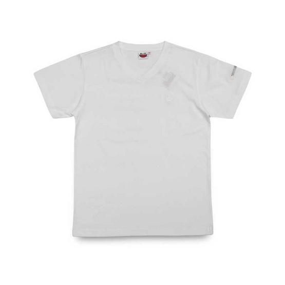 แตงโม เสื้อยืดคอวีรุ่นออริจินัล สี 01 ขาว