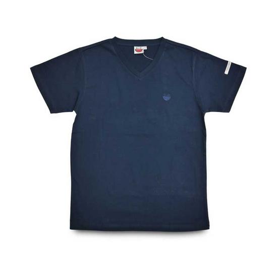 แตงโม เสื้อยืดคอวีรุ่นออริจินัล สี63 กรมท่า