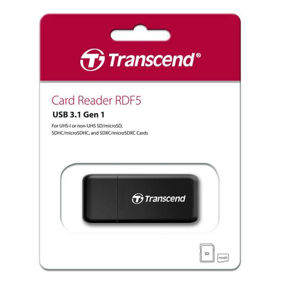 Transcend อุปกรณ์อ่านการ์ด Card Readers RDF5 Black