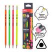 Deli เซ็ทดินสอไม้2B + เครื่องเหลาดินสอแฟนซี (คละสี)