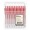 ปากกาเจลหมึกแดง U-Click 0.5มม. KIAN-DA (แพ็ก12ด้าม)