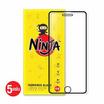 Ninja ฟิล์มกระจก Iphone 7 Plus  Full แพ็ค 5 ชิ้น