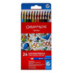 Caran D'Ache ชุดสีไม้ระบายน้ำ รุ่น School Line 24 สี กล่องกระดาษ 1290.724