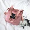 UGI กระเป๋าสะพายผ้าแคนวาส สีชมพู